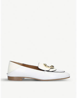 Chloé C logo-detail leather loafers