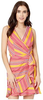 Parker Shella Dress (Salsa Stripe) Women's Dress