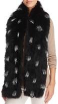 Adrienne Landau Fox Fur Spotted Scarf