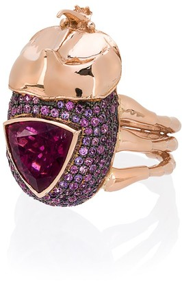 Daniela Villegas Medium Rhino Beetle Ring