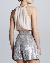 French Connection Sequined Blouson Jumpsuit