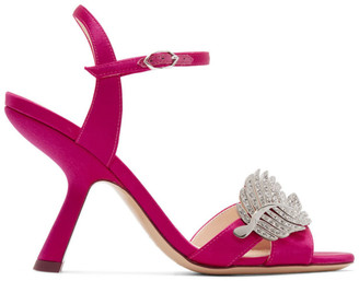Nicholas Kirkwood Pink Satin Monstera Sandals