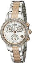 Bulova Accu Swiss Women's 65R153 Diamond Two-Tone Watch