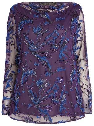 Marina Rinaldi Glitter Embroidered Top
