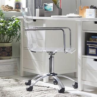 Pottery Barn Teen Paige Acrylic Swivel Desk Chair