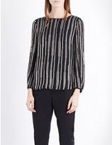 Diane von Furstenberg Evvy silk embellished top