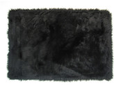 Fun Rugs Flokati Black Area Rug Rug