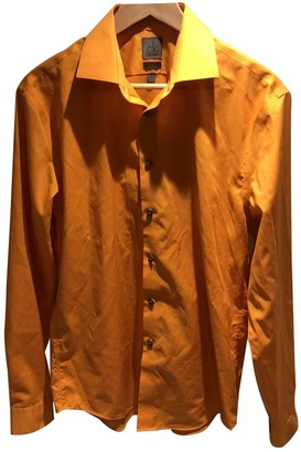 Calvin Klein Orange Cotton Shirts