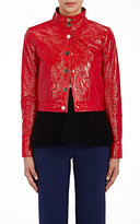Lisa Perry Women's Snazzy Moto Jacket-RED