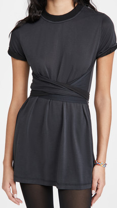 Alice + Olivia Jasset Roll Cuff Tie Back Dress