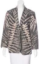 Raquel Allegra Silk Printed Blazer