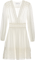 Zimmermann Realm embroidered cotton-voile dress