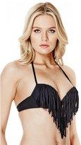 GUESS Fringe Super Push-Up Bikini Bra Top