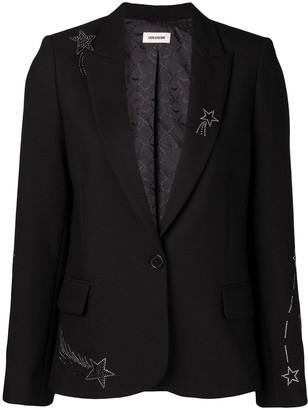 Zadig & Voltaire Star Embellished Blazer