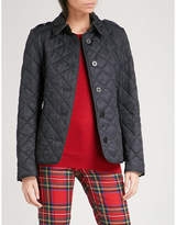 Burberry Frankby checked-detail quilted shell jacket