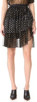 Rodarte Metallic Dot Wrap Skirt