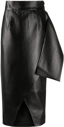 MATÉRIEL Asymmetric Faux-Leather Skirt