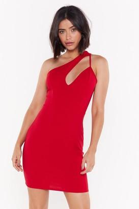 Nasty Gal Womens Gotta Cut You Out One Shoulder Mini Dress - Red