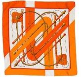 Hermes Clic Clac Silk Pocket Square w/ Tags