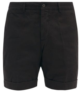 Ami Turn-up Cuff Cotton-twill Bermuda Shorts - Black