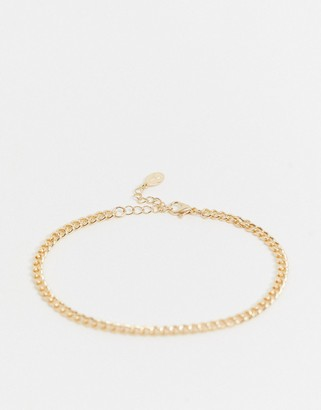 Accessorize chain anklet in gold