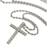 De Beers 18K White Gold & Diamonds Cross Pendant Necklace