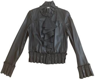 Diane von Furstenberg Black Leather Leather Jacket for Women