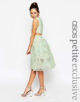 Asos Prom Dress With Floral Embroidery And Cutout Detail