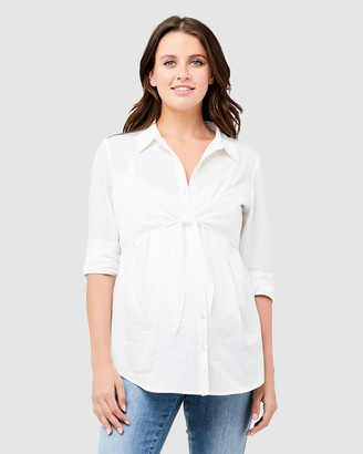 Ripe Maternity Parker Tie Up Nursing Shirt