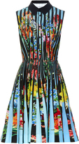 Mary Katrantzou Dew Techno Flowers Stripe-print dress