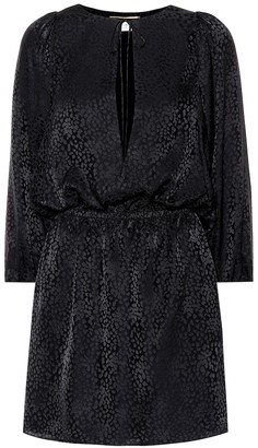 Saint Laurent Silk jacquard minidress