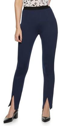Nine West Women's Pull-On High-Waisted Skinny Scuba Pants