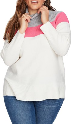 Court And Rowe Cozy Colorblock Turtleneck Sweater