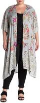 Angie Floral Kimono Sleeve Duster (Plus Size)