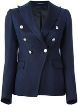 Tagliatore pointed lapels double-breasted blazer - women - Silk/Cupro/Mohair/Virgin Wool - 38