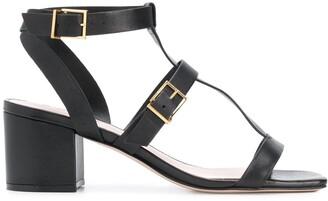 Schutz Buckled Block Heel Sandals