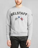 Belstaff Flags Crew Neck Sweatshirt Light Grey Melange