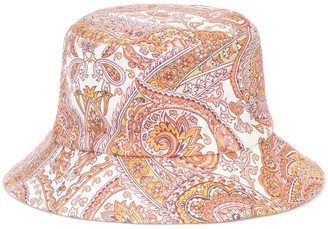 Zimmermann Exclusive to Mytheresa Reversible paisley canvas bucket hat
