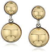 "Kenneth Cole New York Metal Spheres"" Two Tone Ball Double Drop Earring"