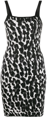 Just Cavalli Animal-Print Mini Slip Dress