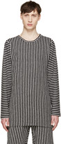 Pyer Moss SSENSE Exclusive Black & White Striped Pullover