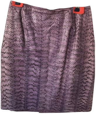 Miu Miu Purple Exotic leathers Skirt for Women Vintage