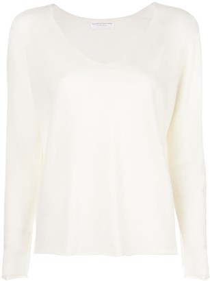 Majestic Filatures Long-Sleeve Fitted Sweater