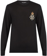 Dolce & Gabbana Crest-applique cashmere sweater