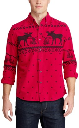 Chaps Big & Tall Go Untucked Button-Down Shirt