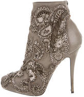 Barbara Bui Leather Jewel-Embellished Booties