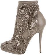Barbara Bui Leather Jewel-Embellished Booties