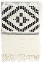 Bole Road Textiles Abren Cotton-Blend Throw - Onyx/Cream