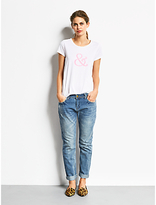 Hush Fluro And T-Shirt, White/Fluro Pink