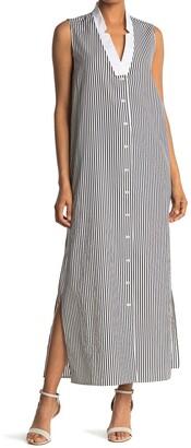 Baldwin Brock Stripe Print Maxi Dress